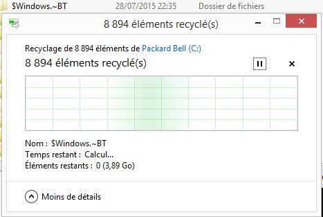 Suppression de C:\$Windows.~BT